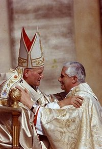 200px John Paul II and Benedict XVI