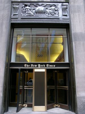 450px The new york times building in new york city