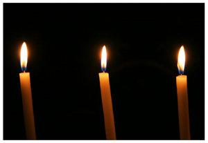 Three candles by Marta Szczesniak