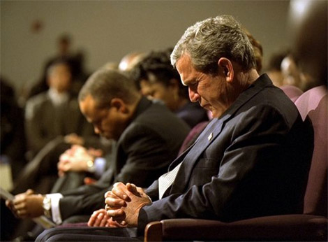 Bush praying