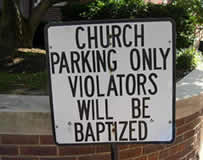 church parking