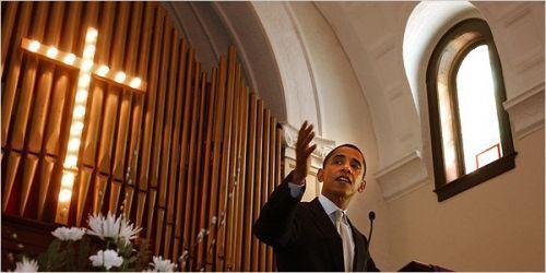 obama in a church