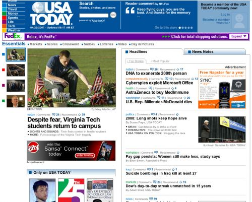 new USA today