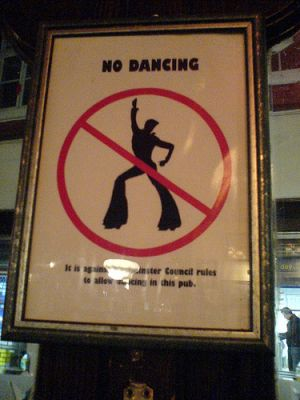 no dancing sign