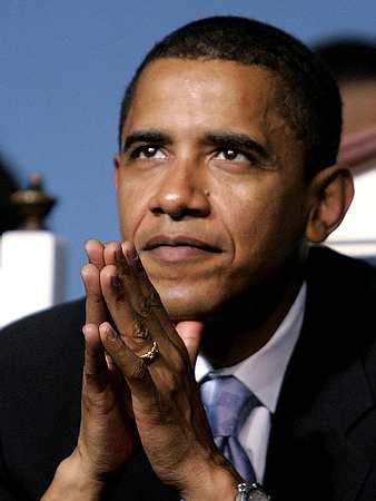 obama praying