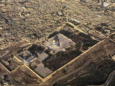 temple mount from above