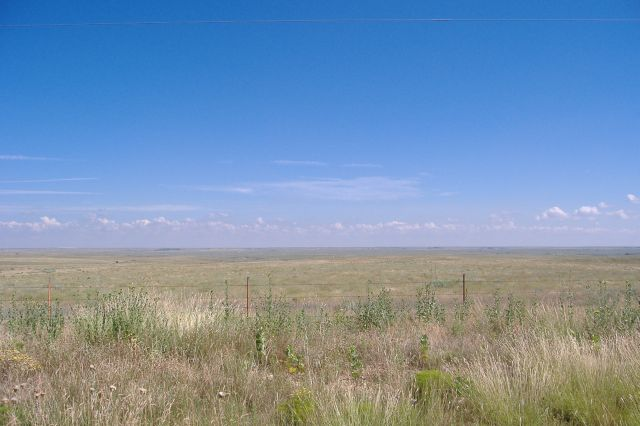 Texas Panhandle Plains Between Perryton, Texas and Shattuck, Oklahoma