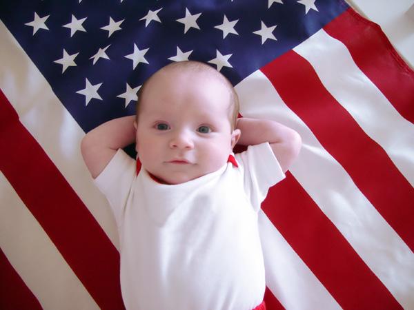 BabyOnFlag