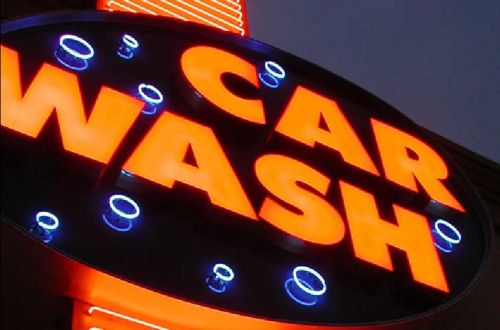 carwash sign