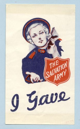 salvation army window label e6412