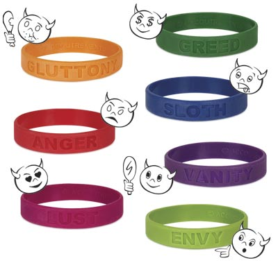 seven deadly sins wristbands