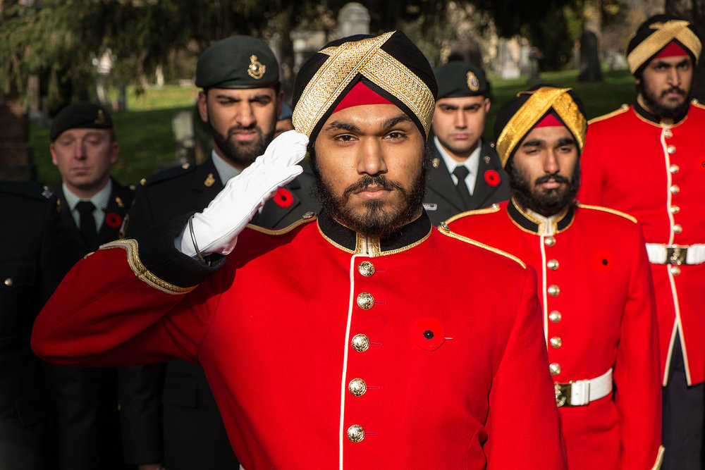 OCdt._Sarabjot_Anand,_OCdt._Sarbjeet_Nijher_and_OCdt._Saajandeep_Sarai_represent_Royal_Military_College_of_Canada_at_Sikh_Remembrance_Day_2013.jpg