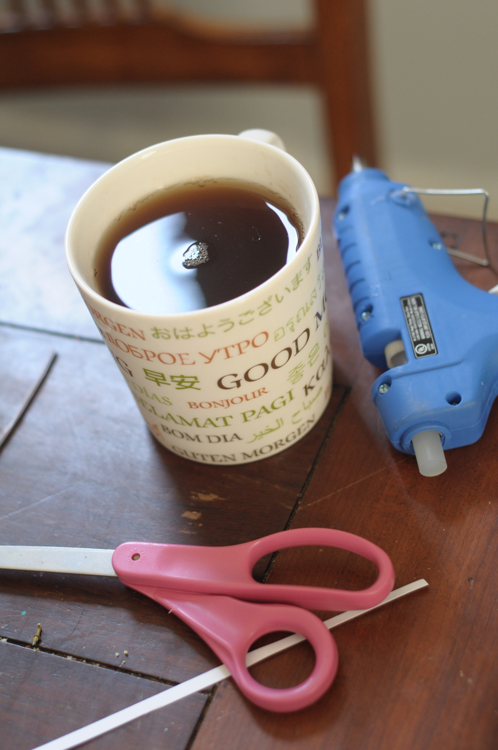 Glue gun, scissors, and afternoon tea? Check.