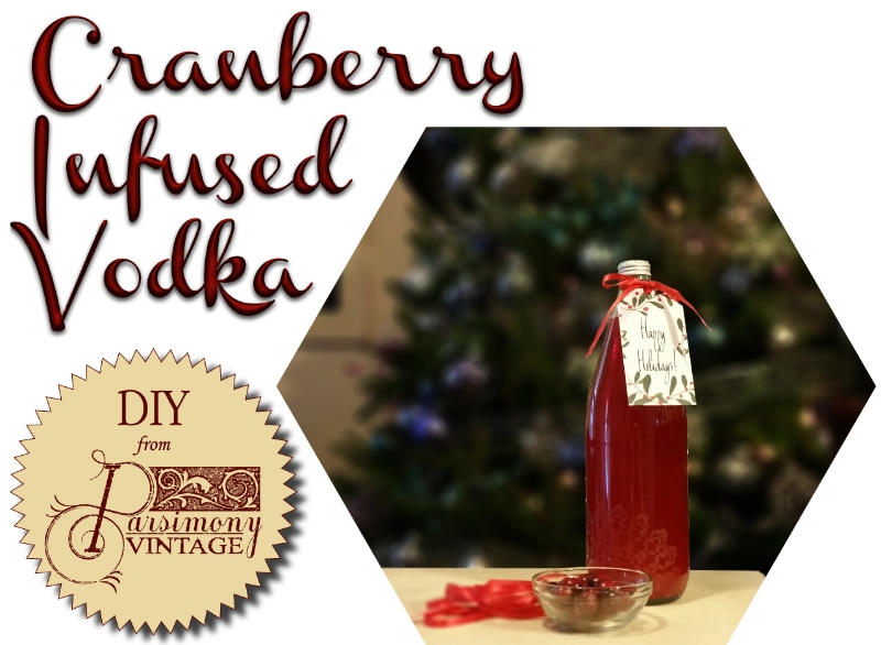 Parsimony Vintage- Event Planning-Cranberry Infused Vodka DIY