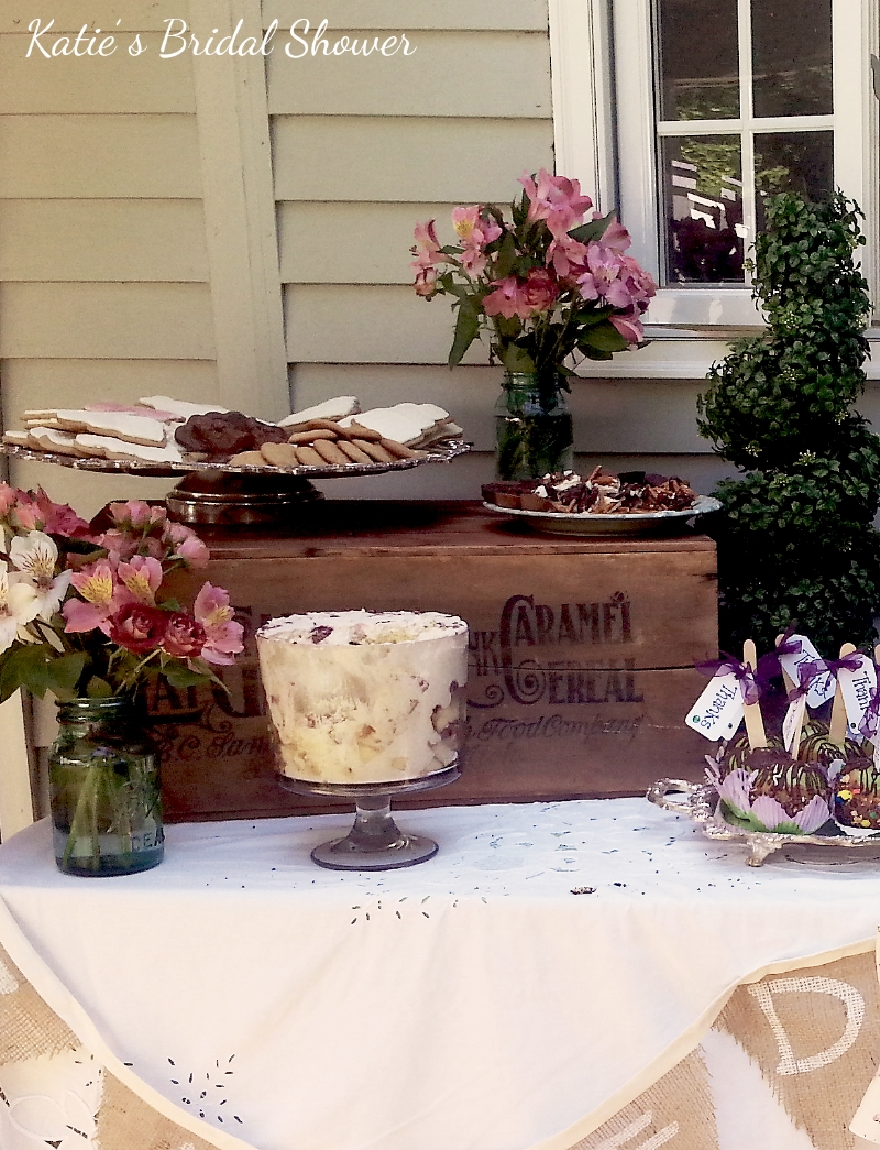 Parsimony Vintage- Event Planning-Spring Bridal Shower Dessert Table