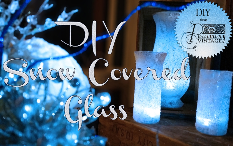 Parsimony Vintage- Event Planning-DIY Epsom Salt Snow Covered Glass
