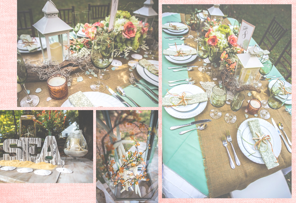 beach theme wedding table