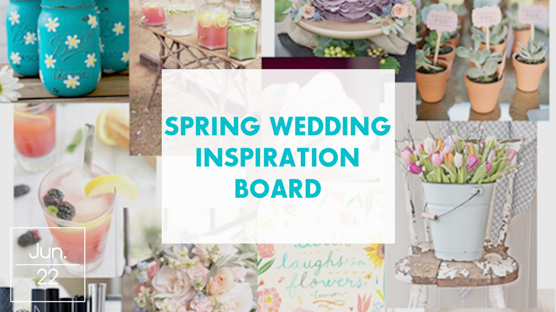 Spring Wedding Inspiration Board