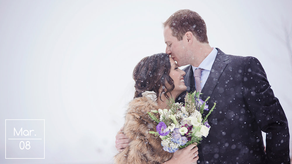 Rustic Meets Glamour In A Winter Wonderland: Erin & Chase