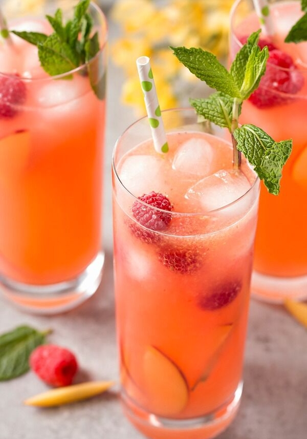 Peach Mocktails