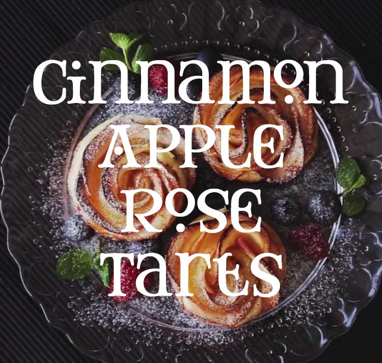 Cinnamon Apple Rose Tarts