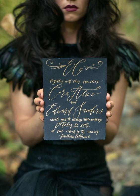 FALL/HALLOWEEN MOODY INVITATION INSPIRATION BOARD