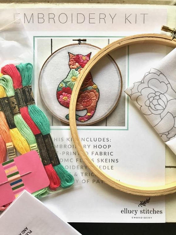 Ellucy Stitches embroidery kit