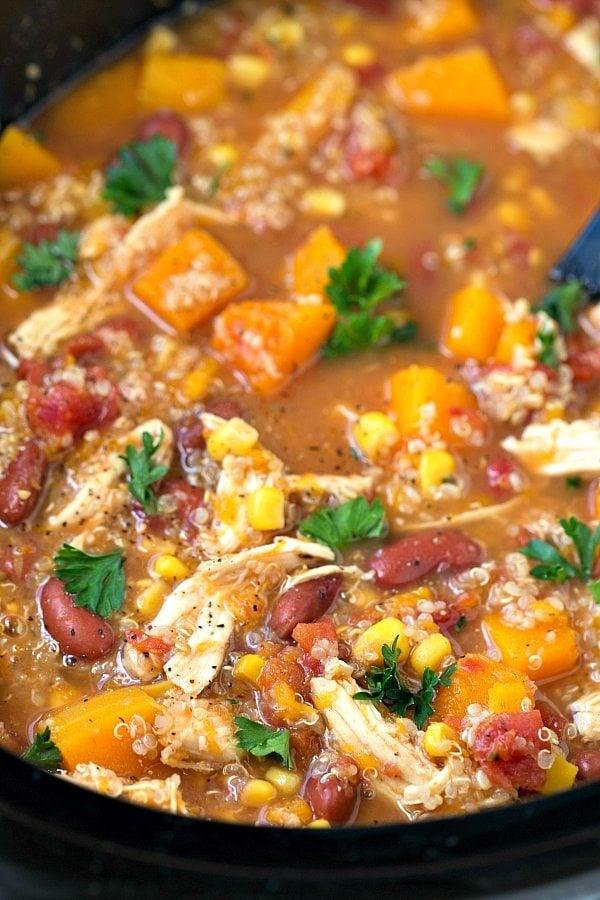 Butternut Squash, Chicken, and Quinoa Soup