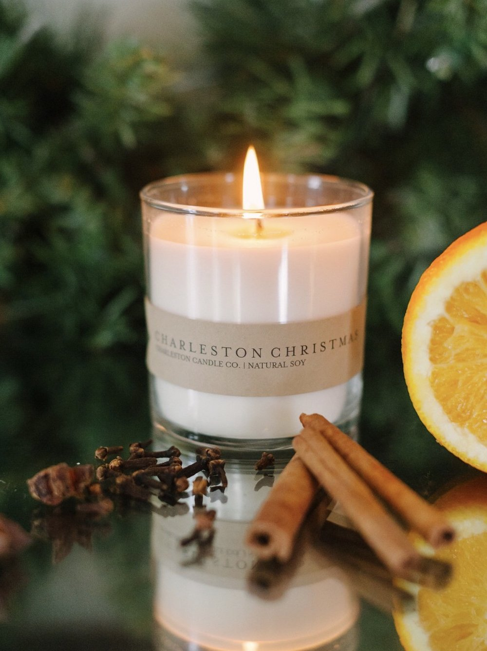 A candle from Charleston Candle Co