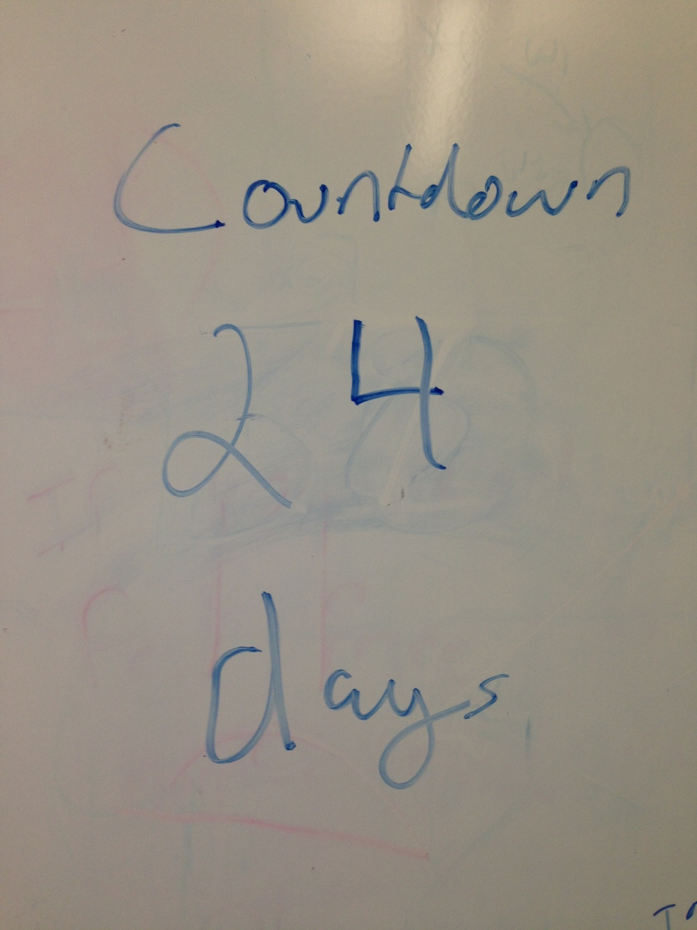 My, possibly optimistic, countdown clock to an internal deadline for content-completion.