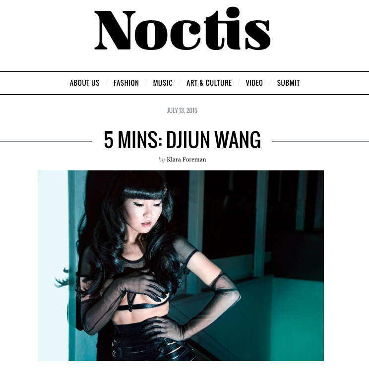 NOCTIS MAGAZINE: INTERVIEW