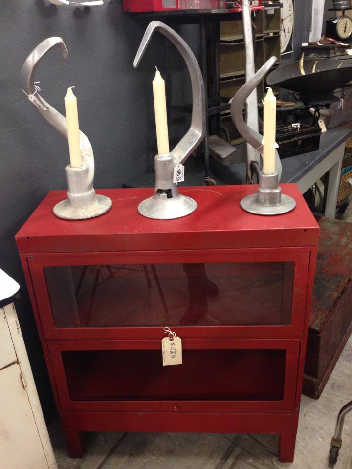 You can't get more romantic then candle light and why not a red bookcase to house your loves collection of sonnets.