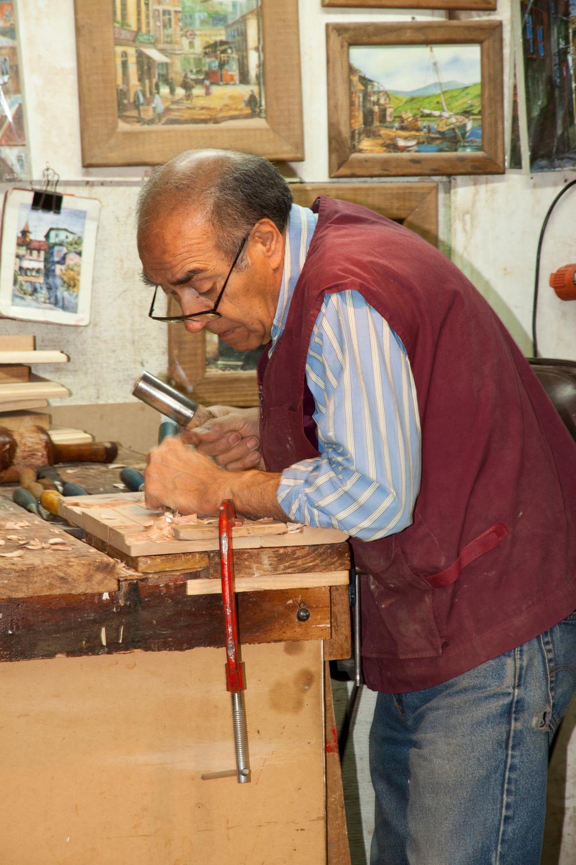 Wood Carving, Tallados an Madera, Santiago