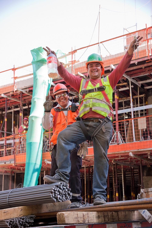 Construction Workers, Santiago