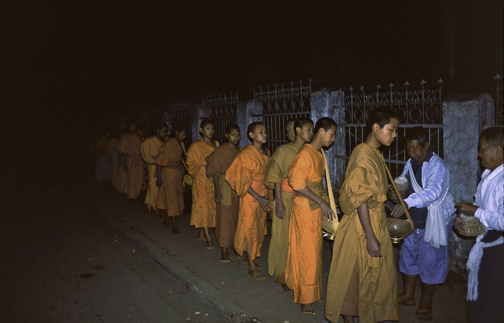 Monks Receiving Alms, Luang Prabang