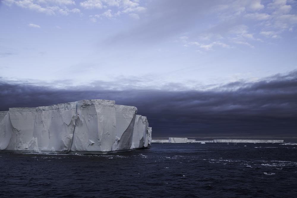 Tabular Icebergs on the Way to Brown Bluff