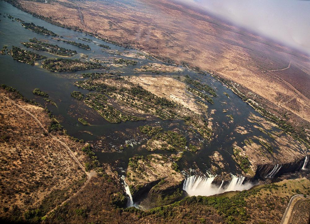 Victoria Falls, Aerial View