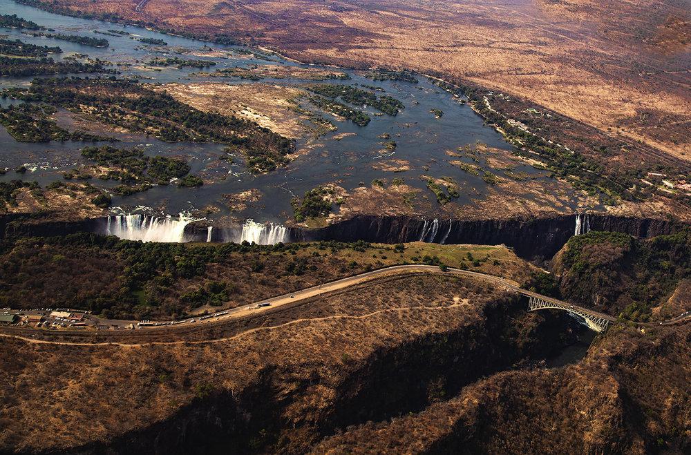 Victoria Falls, Aerial Falls