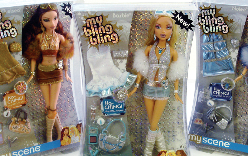 Research and writing for the My Bling Bling Barbie packaging, shelf-talkers, and POPs