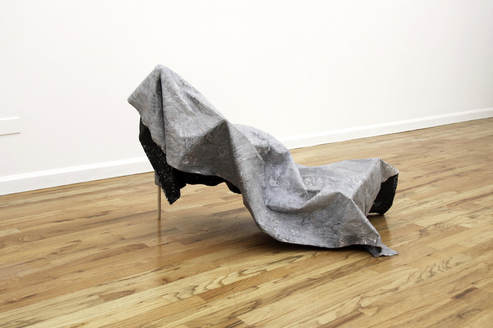 Cloud of Unknowing , 2016  Papier-mâché, plaster, paint and stick, 43x18x27 Inches