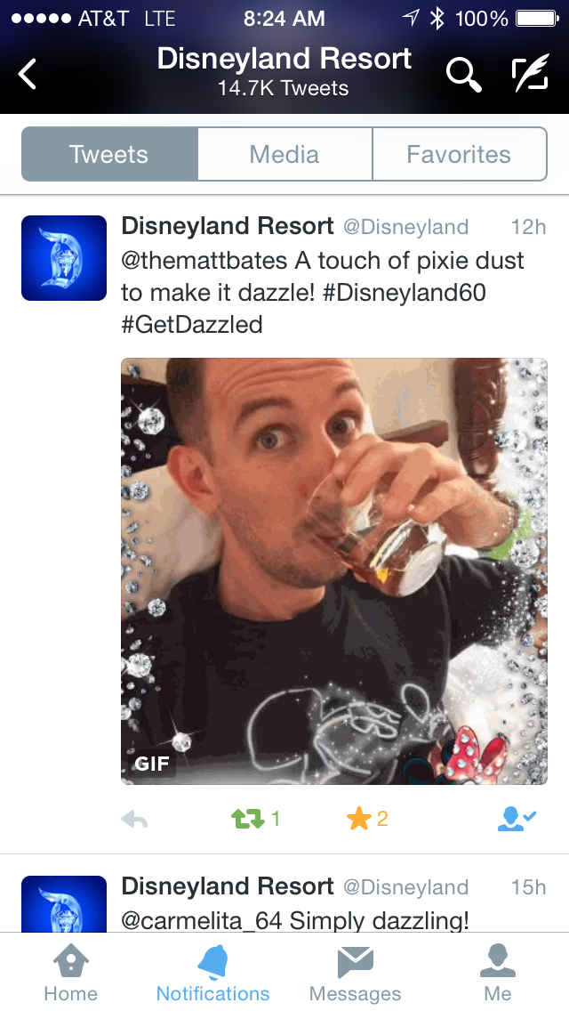This one time  Disneyland  retweeted me drinking whiskey to  15,000 people ...
