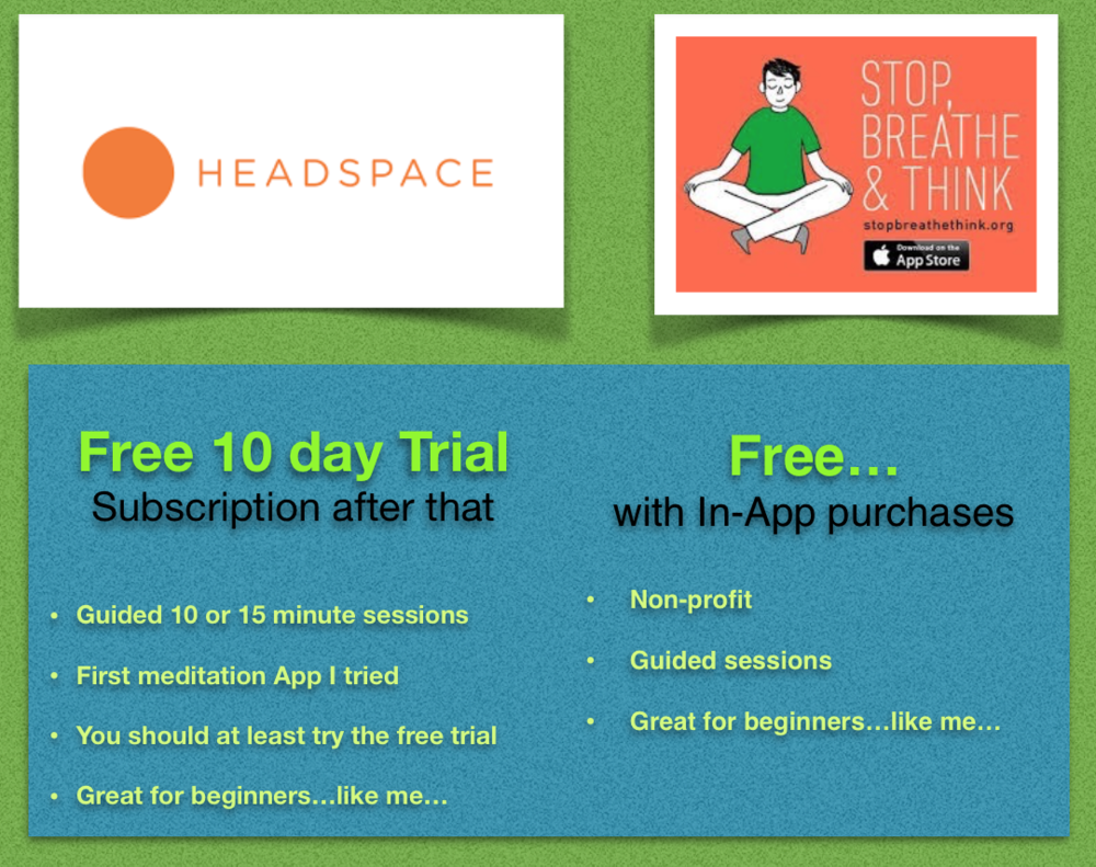 Download  HeadSpace  or  Stop, Breathe & Think  here!