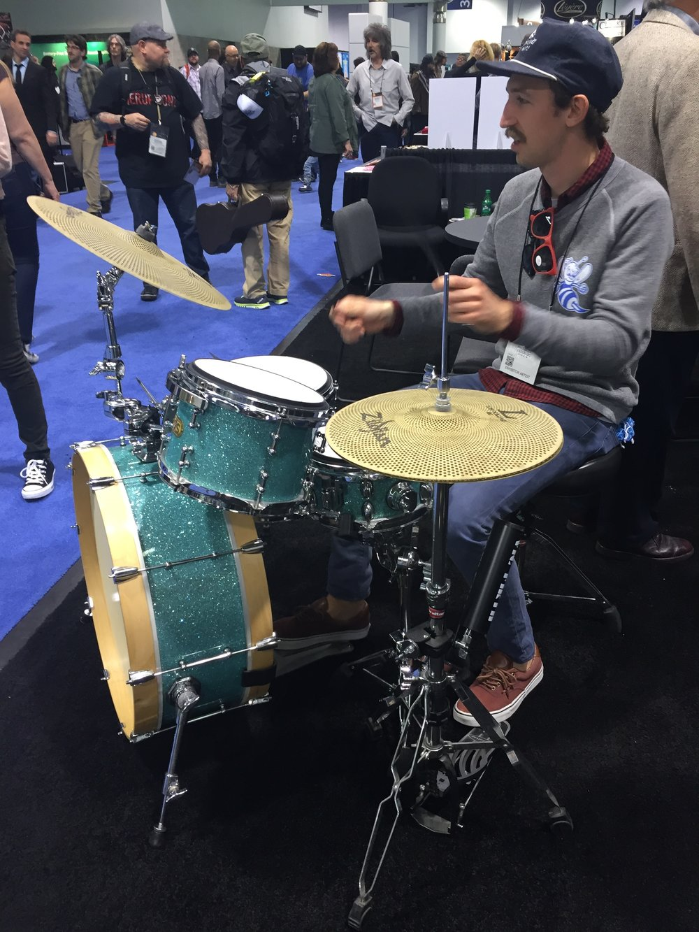 Testing things out. NAMM. Anaheim, CA. 2016.