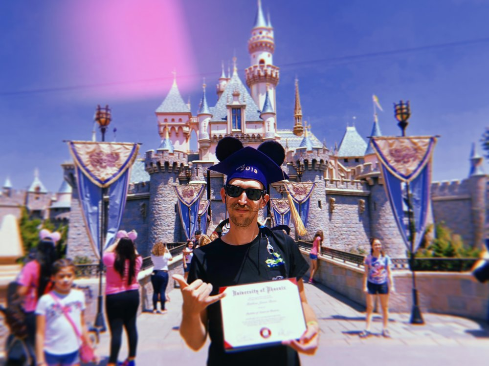 My own graduation walk - Disneyland - Summer 2018