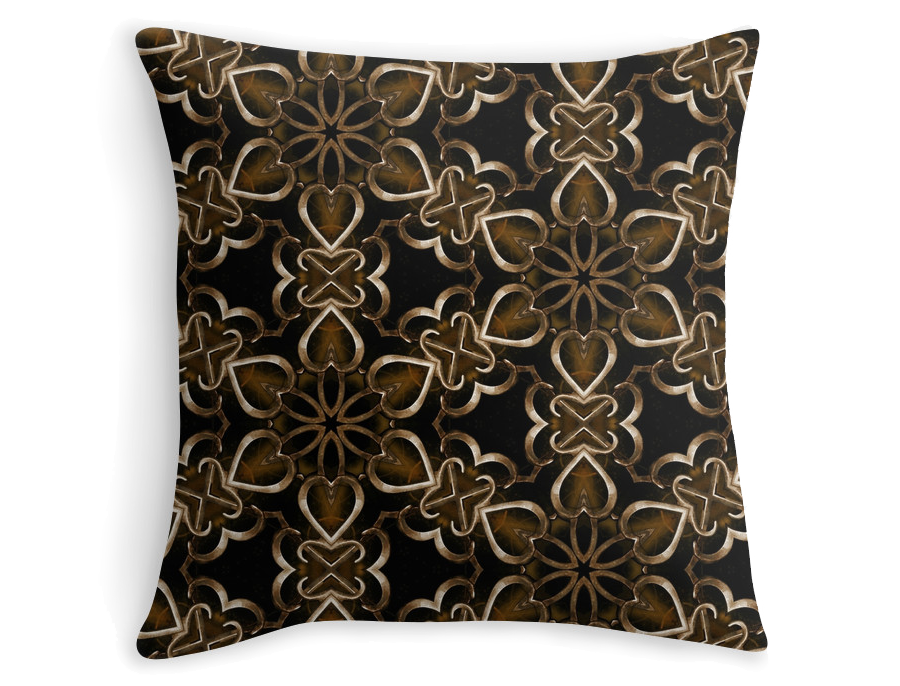 """Metal flowers"" throw pillow, available at Redbubble shop:  http://www.redbubble.com/people/domcia/works/14501957-metal-flowers"