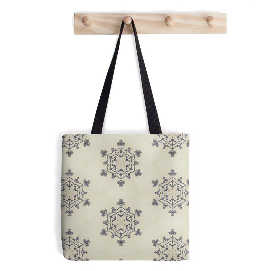 """Snowflake"" tote bag, available at Redbubble store:  http://www.redbubble.com/people/domcia/works/14479484-snowflake?p=tote-bag"
