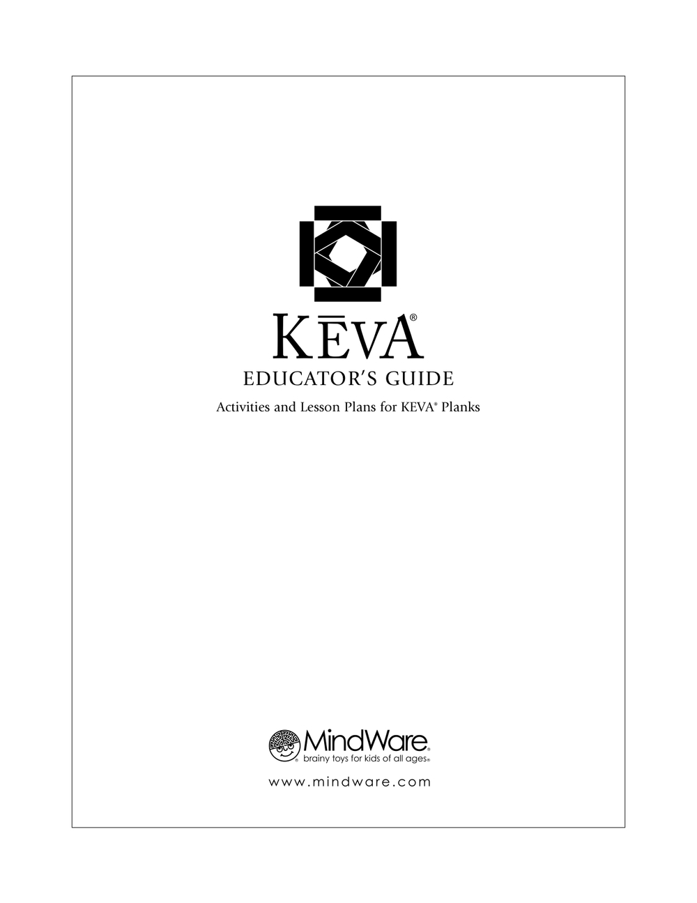 Early Childhood KEVA Planks - Early childhood education lesson plan template