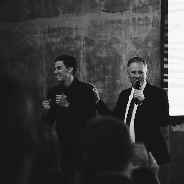 Local pastors, @darrenr and @ctoddproctor, kicking off the night's festivities.  #AlphaFilmSeries #AFSPremier #USA #TryAlpha #RunAlpha