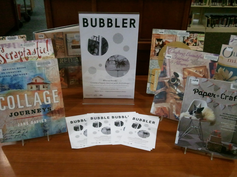 Altered Books Travel Journal | The Bubbler at Madison Public Library
