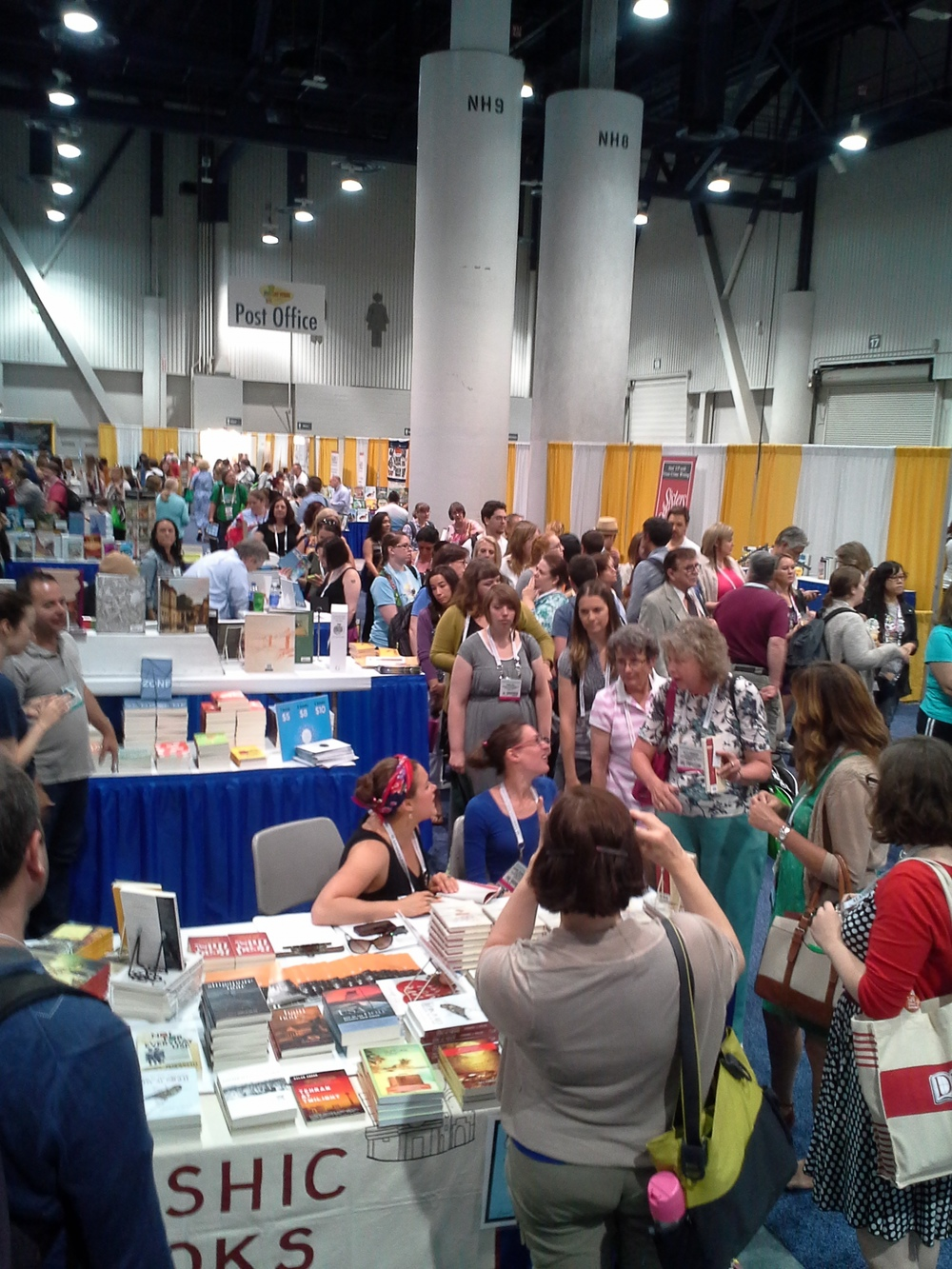 Book signing at the Coffee House Press booth at ALA Annual 2014